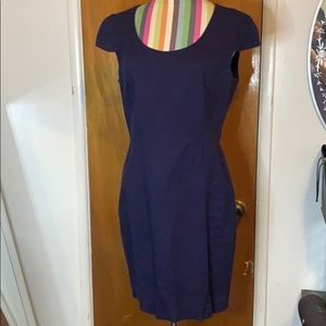 DKNYC navy sheath dress